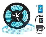 Tira de Luz Inteligente Tiras Led Wifi - GALOOK 5M Inalámbrico Strip Barra de Luz 150 LEDs 5050 RGB con Controlador a Distancia para Alexa Echo Google Assistant