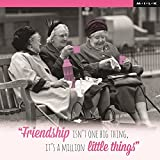 Friendship Is A Million Little Things Birthday Greeting Card Square Milk Range Cards