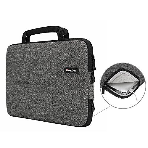 iCozzier13-13.3 Zoll mit Laptoptasche Sleeve Hülle Schutztasche für 13-Inch Laptop/ Ultrabook/ Notebook/ Netbook/ MacBook - Grau