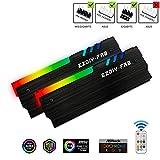 EZDIY-FAB ARGB RAM Kühler mit Controller RGB DDR Speicher Kühlkörper Kühlweste Fin Strahlung für DIY PC-(kompatibel mit ASUS Aura Sync,GIGABYTE RGB Fusion...