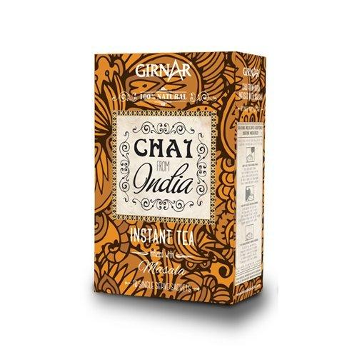 GIRNAR - CHAI DE LA INDIA CON MASALA 100% NATURAL, SIN LECHE - 100GR (10 bolsitas de 10gr) Té Instantáneo con Especias de la India