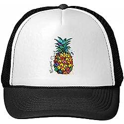DIYthinker Gorra de béisbol de Nylon Fuerte Color piña Fruta Tropical Gorros Gorro Fresca niños del Casquillo del Sombrero Ajustable Regalo para Adultos
