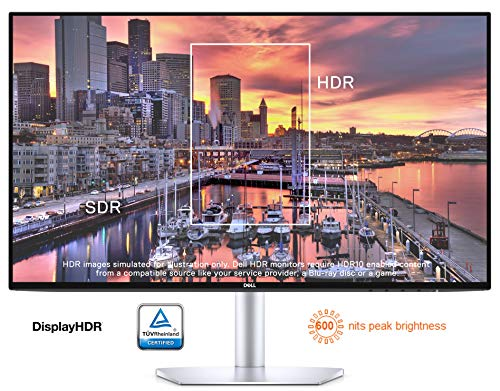 DELL S2419HM 61 cm (24 Zoll) Monitor (HDMI, LED, 5ms Reaktionszeit, 1920 x 1080) silber