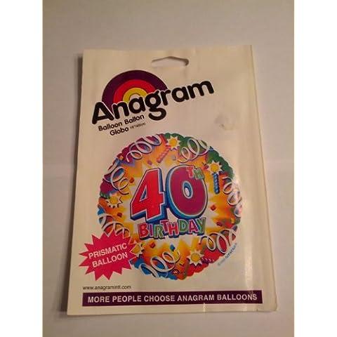 Amscan International-Palloncino di compleanno, motivo: Explosion 101,60 (40 Cm