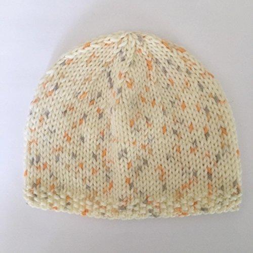 Bonnet de Naissance Bébé Fait Main : Beige Taille 0 - 3 Mois