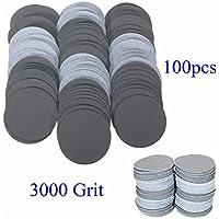 Chenxi Shop 100pcs 50mm 3000Grain abrasif Sable Disques abrasifs polissage Pad papier abrasif