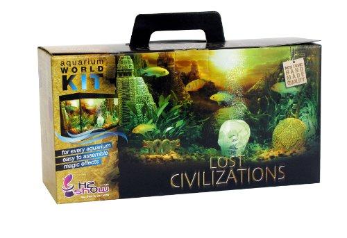 t Civilization, Aquariendeko mit LED, Hintergrund, Gel und Bubble Maker ()