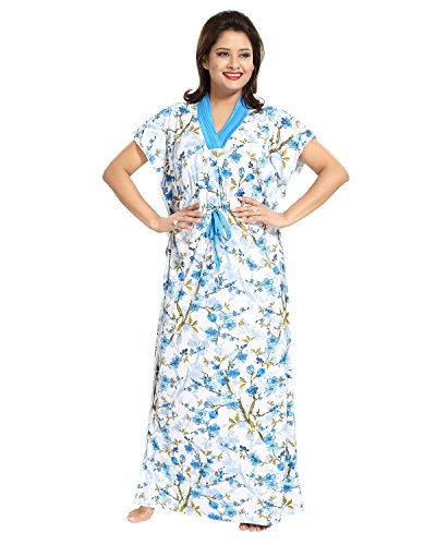 Tucute Women's /Girls Floral print Kaftan Style Nighty / Night Gown /...