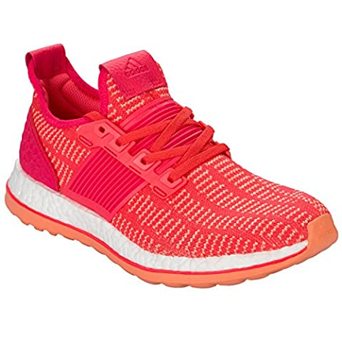 Womens adidas Womens Pure Boost ZG Prime Running Shoes in Red - UK 8