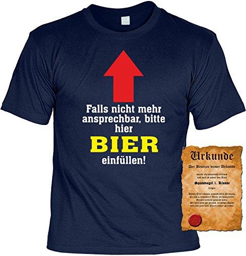 Sprüche Fun T-Shirt mit gratis Spass-Urkunde Geburtstags-Weihnachts-Vatertags-Geschenk viele tolle Bier Alkohol Party Motive Übergrößen 3XL 4XL 5XL blau-01