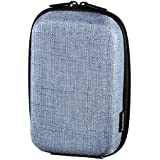 Hama Hardcase Kameratasche für eine Digitalkamera, Hardcase Canvas 80M, Jeans