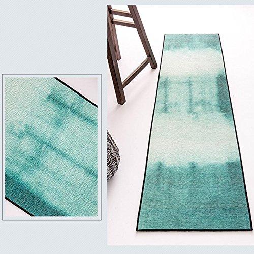 Creme Grüne Rechteck Teppich (Mjb Rechteckiger Teppich, ohne Haare, für Schlafzimmer, Wohnzimmer, Arbeitszimmer, Schlafzimmer, waschbar, Rutschfest, 40 x 150 cm)