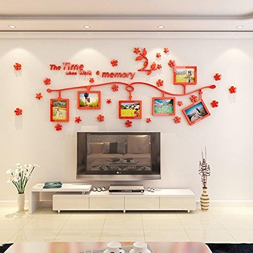 Amazonde Wohnzimmer Fotowand Fotorahmen Wand Kreatives Portfolio Mittelmeer Europische Herzuhren
