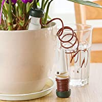 VENMO 1Set Mini Indoor Greenhous Flower Pot Waterer Indoor Plants Automatic Drip Spikes Round Hose Pipe Irrigation Watering System Dripper
