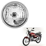 #7: Autofy Round Headlamp/Headlight For Hero Honda CD Dawn (Silver)