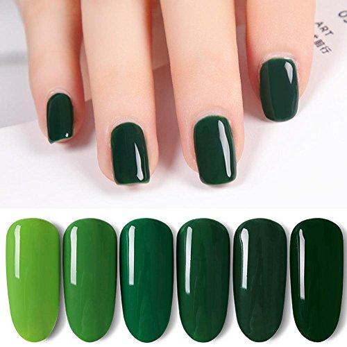 Arvin87Lyly Professional Gel Nagelkleber Nageldesign Nagellack Nagel Design Nagellack Ungiftig und Geschmacklos Gesund und Umweltfreundlich Volle Farbe(Grün)