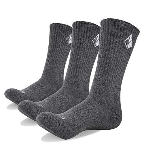 YUEDGE 3 Paar Herren Wandersocken Atmungsaktiv Hochleistung Trekking Camping Outdoor Sport Socken (XL) -