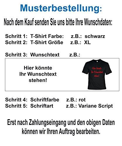 T-Shirt mit eigenem Wunschtext - Spruch - Slogan - Wunschaufdruck - Sprücheshirt - Textil Druck - Textdruck Bunt