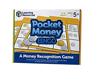 Learning Resources- Juego Dinero Pocket Money Bingo, Color (LSP9516-UK)