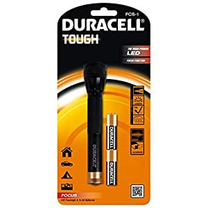 Duracell Tough Focus Beam LED Torch with 2 AA Batteries - FCS-1