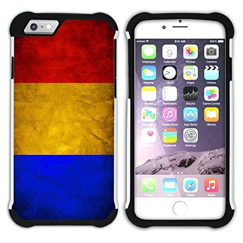 Graphic4You Vintage Uralt Flagge Von Österreich Österreichisch Design Hart + Weiche Kratzfeste Hülle Case Schale Tasche Schutzhülle für Apple iPhone 6 Plus / 6S Plus Rumänien Rumänisch