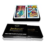 Jackpot Premium 2 PC Set Design 3 Multi coloured playing cards