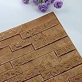 Gleecare Wandaufkleber Bump Stil Ziegel 3d dreidimensionale Wand einfügen Schaum Antikollisions selbstklebend