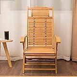 XQY Schlafsaal-Bett-Stuhl, Student-fauler Stuhl, College-Schlafsaal-Artifakt Bambus-Schaukelstuhl-Fester Holz Faltbarer Alter Mann-Siesta-bequemer Wohnzimmer-Schlafzimmer-Balkon-Rückenlehnen-Stuhl