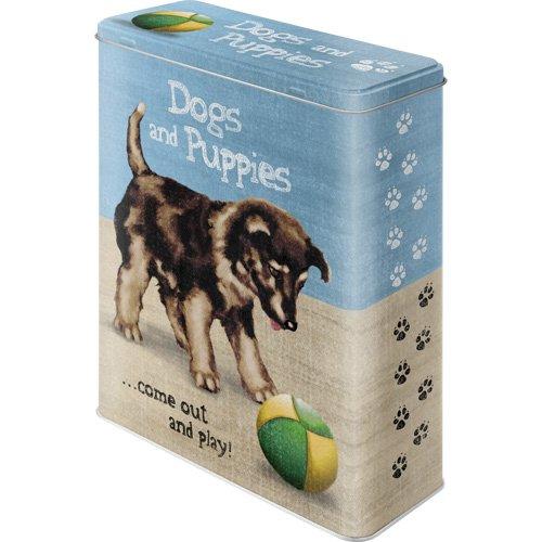 Nostalgic-Art 30310 Animal Club - Dogs and Puppies, Vorratsdose XL (Dosen Hundefutter 8)