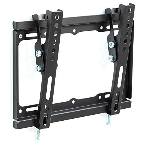 TecTake 401329 Universal TV Wandhalterung neigbar, bis VESA 200x200, 43-94cm (17 - 37