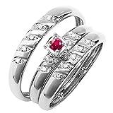 Dazzlingrock Collection - Juego de anillos de diamante para...