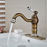 tougmoo in ottone anticato finitura ponte lavandino rubinetto miscelatore per