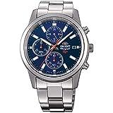 Orient Reloj Cronógrafo para Hombre de Cuarzo con Correa en Acero Inoxidable FKU00002D0