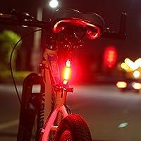 Ricaricabile biciclette USB luce posteriore Super Bright bicicletta luci posteriori a LED(Rosso) - Led Luce Posteriore Della Bicicletta