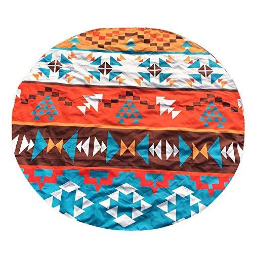 Ogquaton Runde Druck Hippie Tapisserie Strand kompakte Picknick werfen Yoga Matte Towel Berg Decke reisetuch sanddicht Beste Wahl -
