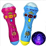 Zantec Kinder niedliche Schwein LED leuchten bunte blinkende Spielzeug, Kinder Flash Stick Mikrofon, sternenklare Taschenlampe Spielzeug