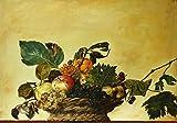 Poster Caravaggio Cesto di frutta Art. 04 50x70 cm Stampa digitale Grafica d'arte Giclée Alta definizione Galleria papiarte
