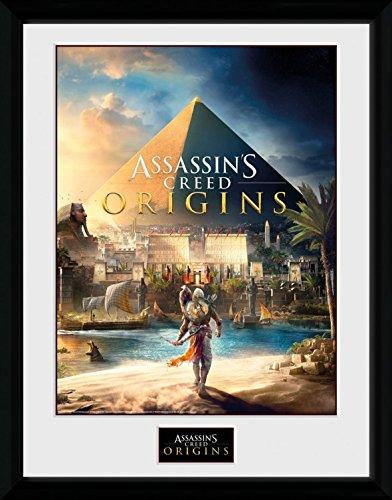 Preisvergleich Produktbild 1art1 106726 Assassin's Creed - Origins, Cover Gerahmtes Poster Für Fans Und Sammler 40 x 30 cm