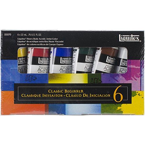 Liquitex 101070 Professional Heavy Body Acrylic Classic Beginner, 6-er Set - Body Paint Spray