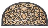 Fußmatte Kokosmatte Fußabtreter Türmatte Gummi Kokos halbrund Art Deco