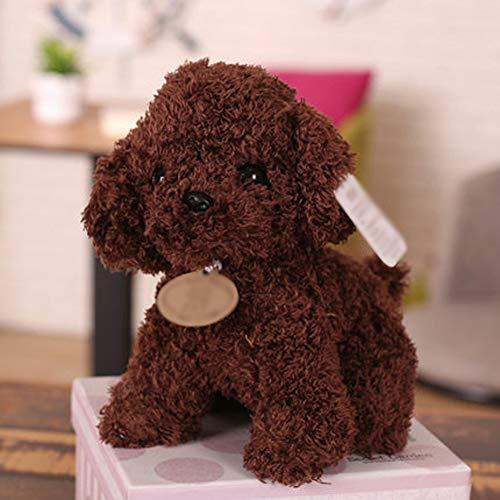 MMD Regalo di Compleanno del Bambino della Decorazione del Desktop di Ragdoll del Giocattolo Adorabile della Peluche del Cane (Colore : Marrone Scuro)