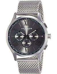 Akribos XXIV Analog Black Dial Men's Watch - AK844SSB
