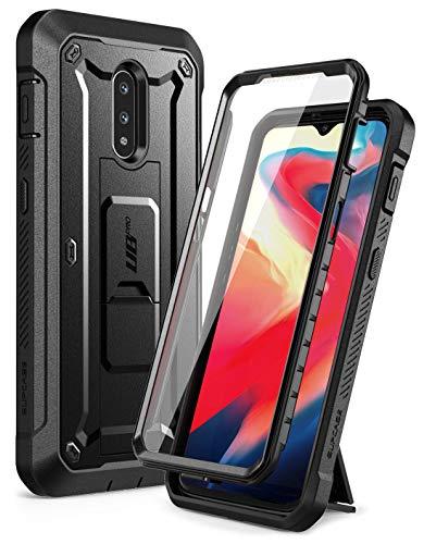 SupCase OnePlus 7 / 6T Hülle 360 Grad Schutzhülle [Unicorn Beetle Pro] Robust Handyhülle Bumper Case Cover mit Integriertem Bildschirmschutz für OnePlus 7/ 6T (Schwarz)