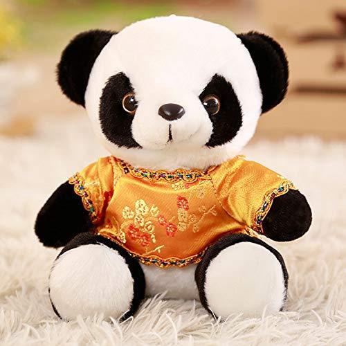 EIN hübsches Baby Panda stofftiers, schwarzen und weißen Mini - Puppe, kleines Geburtstagsgeschenk,gelbe Tang - kostüm,18 Zentimeter (Hübsche Panda Kind Kostüm)