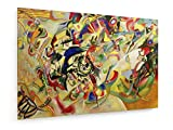 Wassily Kandinsky - Composizione VII - 1913 - 90x60 cm - Belle stampe d'arte tela textile - arte della parete - Vecchi Maestri / Museo