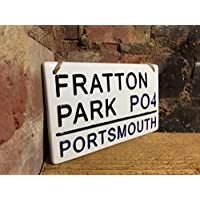 PORTSMOUTH-Fratton Park-Football Sign-Street Sign