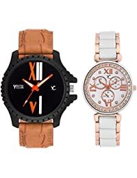YOUTH CLUB Analogue Multicolor Dial Men's & Women's Couple Watch(133C)