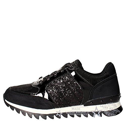 Laura Biagiotti 1568 Sneakers Donna Nabuk/tessuto NERO NERO 37