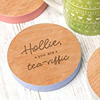 Personalised Coaster - You are Tea-Riffic Wooden Drinks Coaster - Personalised Gifts for Her - Personalised Gifts for Teachers