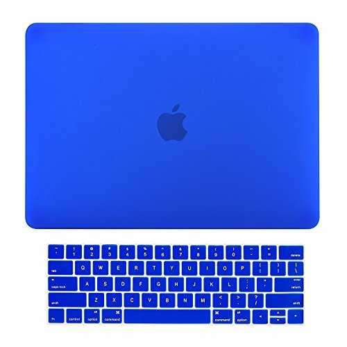 iFyx Matte Rubberized Hard Protective Shell Case Cover Skin for Apple Macbook Pro 13-inch A1706 with Touch Bar / A1708 without Touch Bar ( Release Oct 2016 ) +Free ScreenGuard+Keypad (Blue)